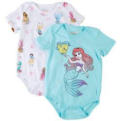 The Little Mermaid Baby Girls 2-pk. Character Bodysuit Set