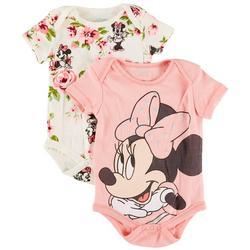 Baby Girls 2-pk. Minnie Floral Bodysuit Set