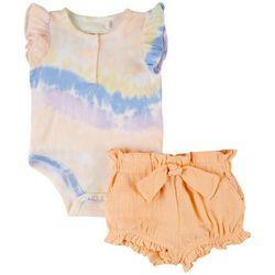 Jessica Simpson Baby Girls 2-pc. Tie Dye Short Set