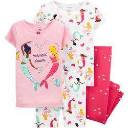 Carters Baby Girls 4-pc. Mermaid Dreams Pajama Set