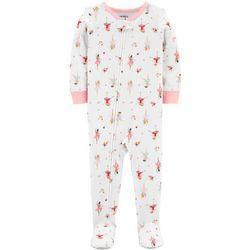 Carters Baby Girls Ballerina Footie Pajamas
