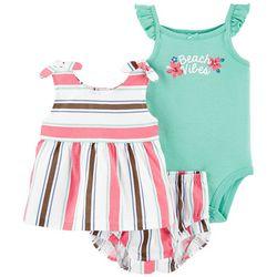 Carters Baby Girls 3-pc. Beach Vibes Short Set