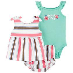 Baby Girls 3-pc. Beach Vibes Short Set