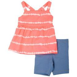Baby Girls 2-pc. Tie Dye Print Short Set