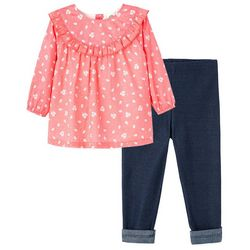 Little Me Baby Girls 2-pc. Floral Tunic Pant Set