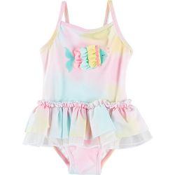 Little Me Baby Girls Fish Tie Dye Swimsuit