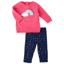 Little Me Baby Girls 2-pc. Rainbow Sweatshirt Set