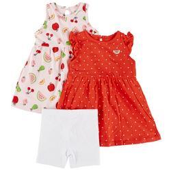 Baby Girls 3-pc. Fruit Dress Set