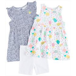 Baby Girls 3-pc. Pineapple Party Dress Set