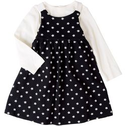 Focus Baby Girls 2-pc. Star Print Dress Set