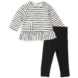 Focus Baby Girls 2-pc. Striped Long Sleeve Top Set