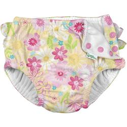 Baby Girls Floral Ruffle Snap Swim Diaper