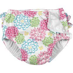 Green Sprouts Baby Girls Zinnia Ruffle Snap Swim