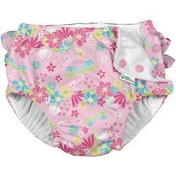 Baby Girls Dragonfly Ruffle Snap Swim Diaper
