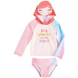 Baby Girls Mermaid Long Sleeve Rashguard Set