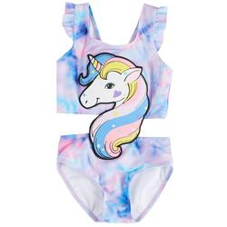 Baby Girls 2-pc. Unicorn Tankini Swimsuit