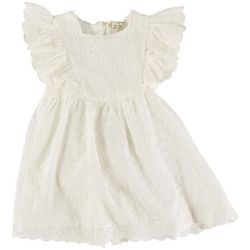 Jessica Simpson Baby Girls Eyelet Short Sleeve Dress