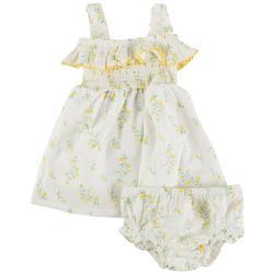 Baby Girls Floral Swiss Smocked Dress