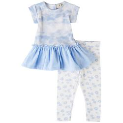 Baby Girls 2-pc. Tie Dye Peplum Pant Set