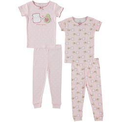 Cutie Pie Baby Toddler Girls 4-pc. Avocado Pajama Set