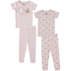 Toddler Girls 4-pc. Avocado Pajama Set