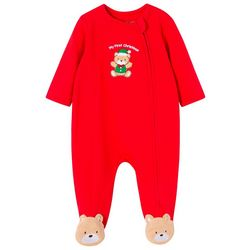 Little Me Baby Boys My First Christmas Bear Pajamas
