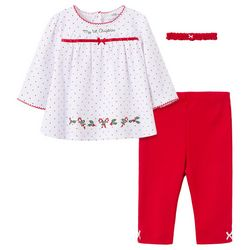 Little Me Baby Girls 3-pc. My 1st Christmas Pant Set