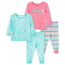 Little Me Toddler Girls 4-pc. Love Planet Pajama Set
