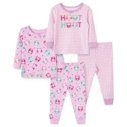 Little Me Toddler Girls 4-pc. Owl Pajama Set