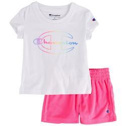 Toddler Girls 2-pc. Logo Script Short Set