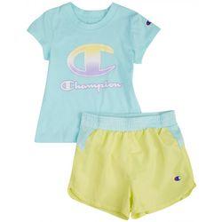 Champion Toddler Girls 2-pc. Logo Ombre Short Set