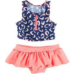 Floatimini Toddler Girls 2-pc. Leopard Rashguard Swimsuit