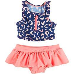Toddler Girls 2-pc. Leopard Rashguard Swimsuit