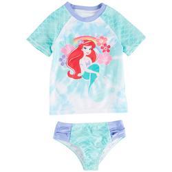 The Little Mermaid Toddler Girls Ariel Rashguard Set
