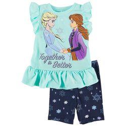 Frozen Toddler Girls 2-pc. Together Is Better Short Set