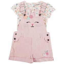 Toddler Girls 2-pc. Bunny Twill Shortall Set
