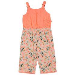 Little Lass Toddler Girls Floral Eyelet Jumpsuit