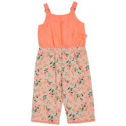 Toddler Girls Floral Eyelet Jumpsuit
