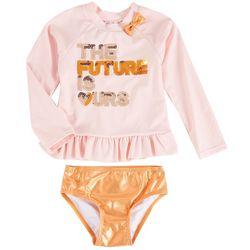 Sol Swim Toddler Girls 2-pc. Future Is Ours Rashguard Set