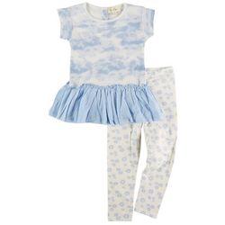 Jessica Simpson Toddler Girls 2-pc. Tie Dye Peplum Pant Set