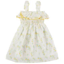 Toddler Girls Floral Swiss Smocked Dress