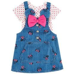 Toddler Girls 2-pc. Denim Shortall Set