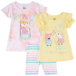 Peppa Pig Toddler Girls 3-pc. Sunny Days Short Set