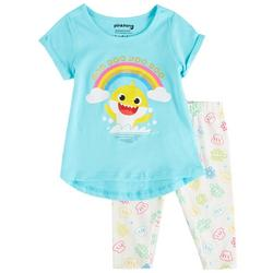 Toddler Girls 2-pc. Rainbow Shark Pants Set
