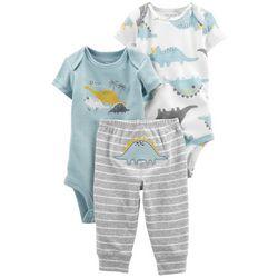 Carters Baby Boys 3-pc. Dino Bodysuit Pant Set