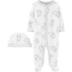 Carters Baby Boys Milk & Clouds Pajama Set