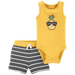 Baby Boys 2-pc. Pineapple Short Set