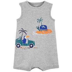 Baby Boys Turtle Island Sleeveless Romper