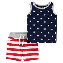 Carters Baby Boys 2-pc. Stars & Stripes Short Set