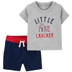 Baby Boys 2-pc. Little Firecracker Short Set